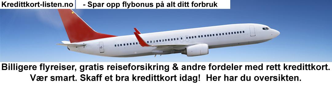 Kredittkort med flybonus